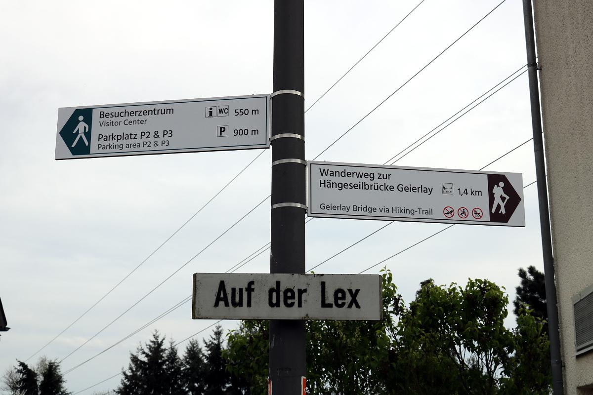 Wegweiser Wanderweg/Trail