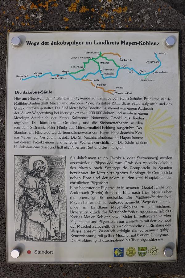 Jakobus-Säule Eifel-Camino