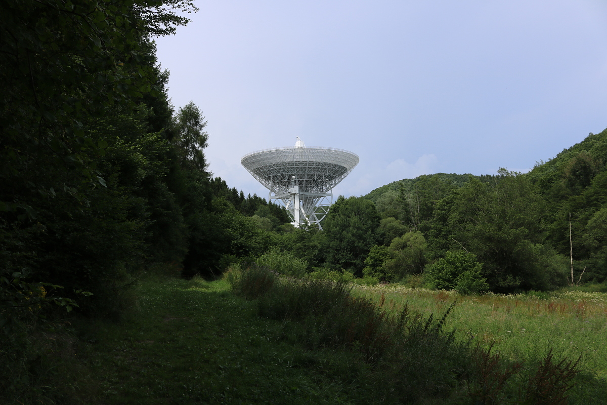 Ausblick auf das Radioobservatorium Effelsberg